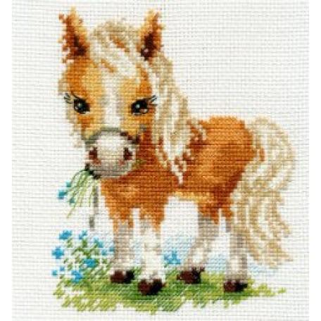 Набор для вышивания арт.Алиса - 0-114 'Белогривая лошадка' 12х14 см