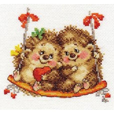 Набор для вышивания арт.Алиса - 0-115 'На качелях' 14х13 см