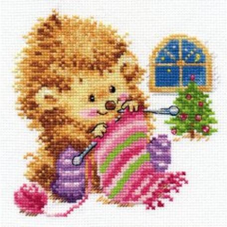 Набор для вышивания арт.Алиса - 0-120 'А кому вяжу не скажу' 13х13 см