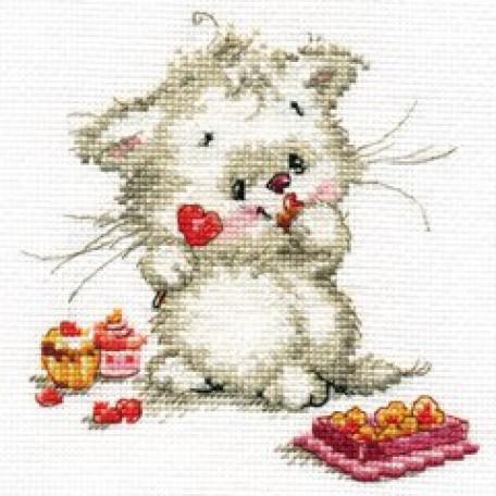 Набор для вышивания арт.Алиса - 0-123 'Сладкая конфетка' 13х13 см