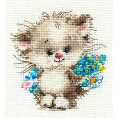Набор для вышивания арт.Алиса - 0-126 'Моей киске' 10х11 см