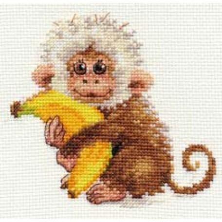 Набор для вышивания арт.Алиса - 0-127 'Обезьянка' 12х11 см