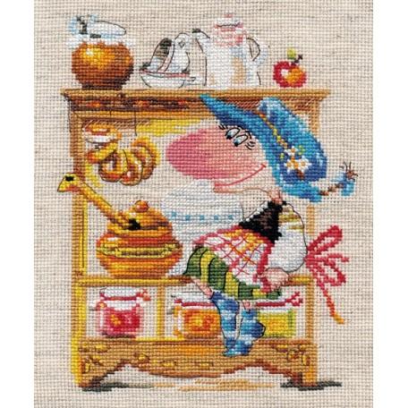 Набор для вышивания арт.Алиса - 0-128 'Медовая кладовушка' 15х19 см