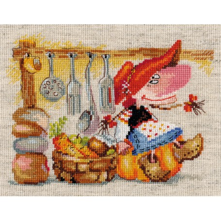 Набор для вышивания арт.Алиса - 0-129 'Овощная кладовушка' 15х19 см