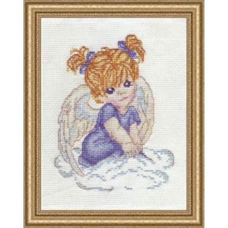 Набор для вышивания Алисена арт.1002 'Ангелочек в голубом' 10*13 см