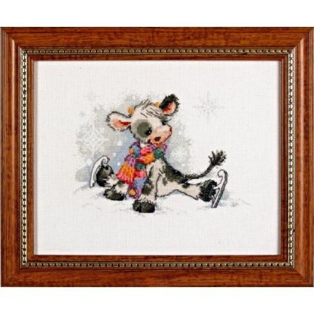 Набор для вышивания Алисена арт.1006 'Непослушные коньки' 15*13 см