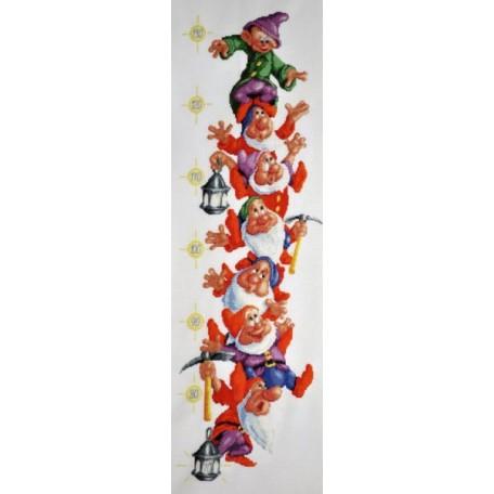 Набор для вышивания Алисена арт.1009 'Ростомер 'Веселые гномы' 20*65 см