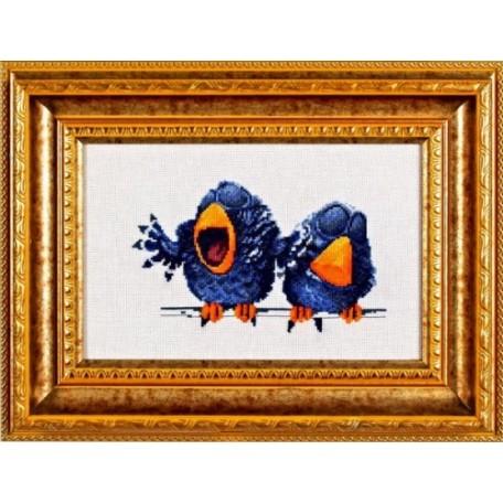Набор для вышивания Алисена арт.1017 'Про птичек 1' 17*12 см