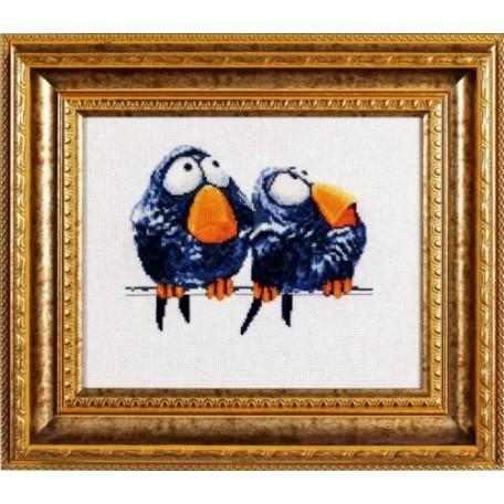 Набор для вышивания Алисена арт.1018 'Про птичек 2' 17*15 см