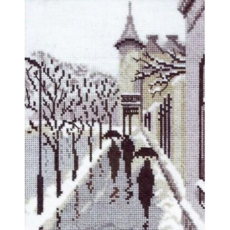 Набор для вышивания Алисена арт.1020 'Городские силуэты' 15*19 см