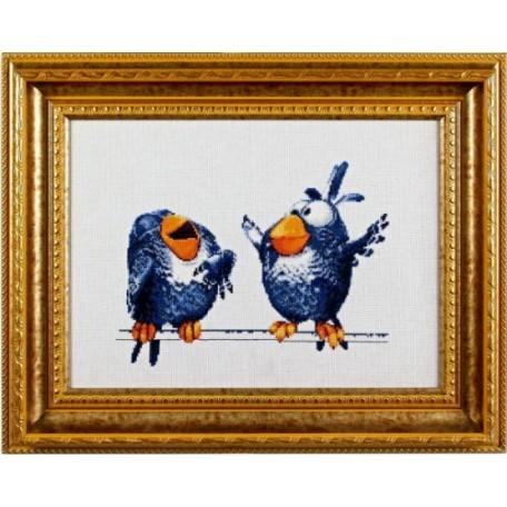 Набор для вышивания Алисена арт.1021 'Про птичек 3' 25*19 см