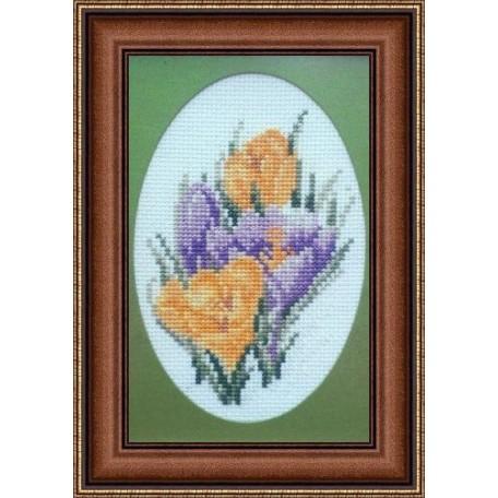 Набор для вышивания Алисена арт.1025 'Первоцвет' 7*11 см