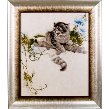 Набор для вышивания Алисена арт.1028 'Испуганный котенок' 37*45 см