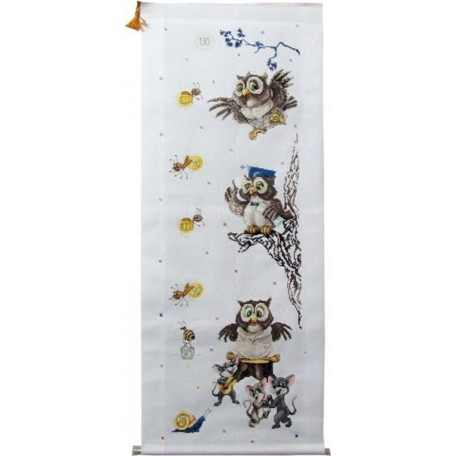 Набор для вышивания Алисена арт.1031 'Ростомер 'Сова' 20*65 см