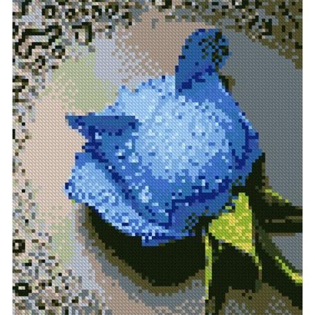 Набор для изготовления картин 'АЛМАЗНАЯ ЖИВОПИСЬ' арт.АЖ.015 'Синяя роза' 25х25 см
