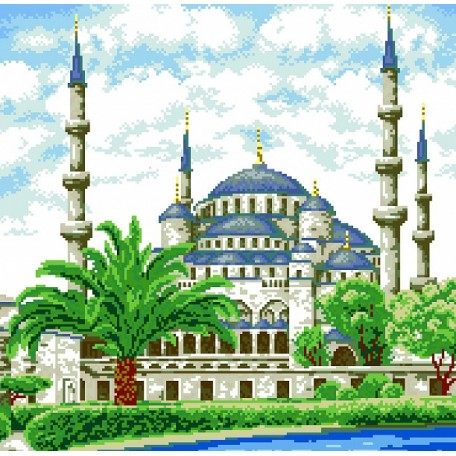 Набор для изготовления картин 'АЛМАЗНАЯ ЖИВОПИСЬ' арт.АЖ.1004 'Мечеть' 47х46,3см