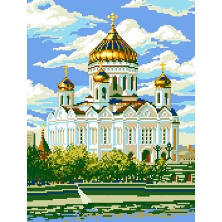 Набор для изготовления картин 'АЛМАЗНАЯ ЖИВОПИСЬ' арт.АЖ.1011 'Храм Христа Спасителя' 35х45