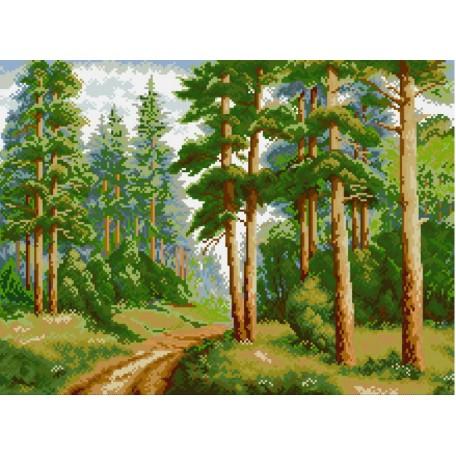 Набор для изготовления картин 'АЛМАЗНАЯ ЖИВОПИСЬ' арт.АЖ.1038 'В сосновом лесу' 56х41 см