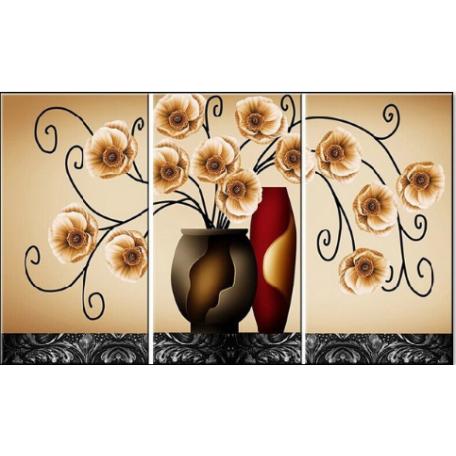 Набор алмазной живописи 'Алмазная вышивка' арт.СК-643 'Триптих Орхидеи'