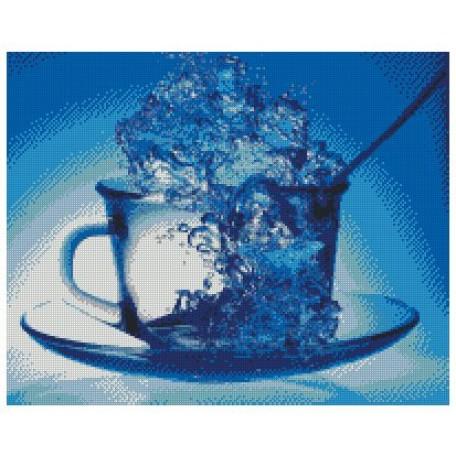 Набор алмазной живописи с подрамником 'Алмазная вышивка' арт.СК-625(П) 'Кружка чая' 40х50 см
