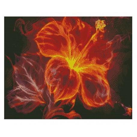 Набор алмазной живописи с подрамником 'Алмазная вышивка' арт.СК-629(П) 'Огненная магнолия' 40х50 см