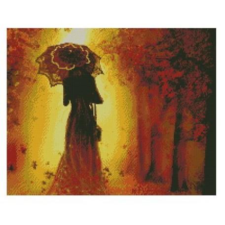 Набор алмазной живописи с подрамником 'Алмазная вышивка' арт.СК-634(П) 'Осень' 40х50 см