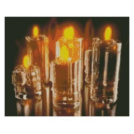 Набор алмазной живописи с подрамником 'Алмазная вышивка' арт.СК-637(П) 'Симфония свечей' 40х50 см