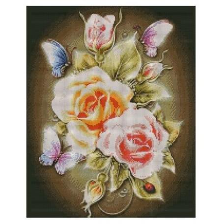 Набор алмазной живописи с подрамником 'Алмазная вышивка' арт.СК-638(П) 'Розы' 40х50 см