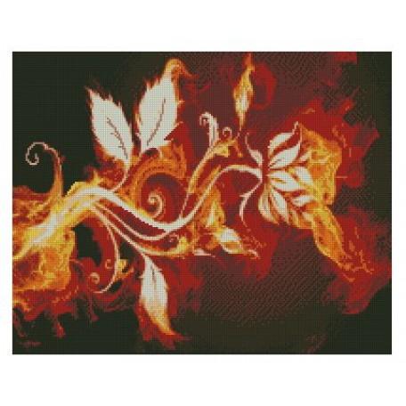 Набор алмазной живописи с подрамником 'Алмазная вышивка' арт.СК-642(П) 'Огненный цветок' 40х50 см