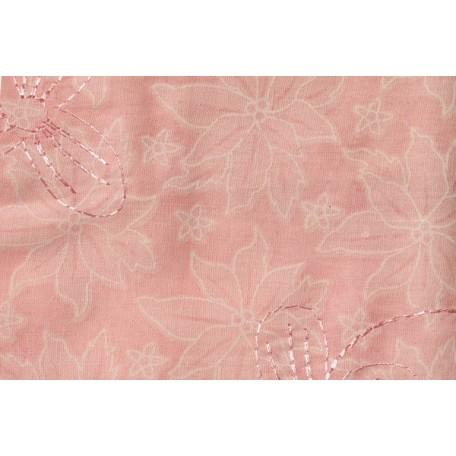 Ткань вышитая арт.750-1 цв.5 (149) св.розовый шир.150 см упак.13,71м