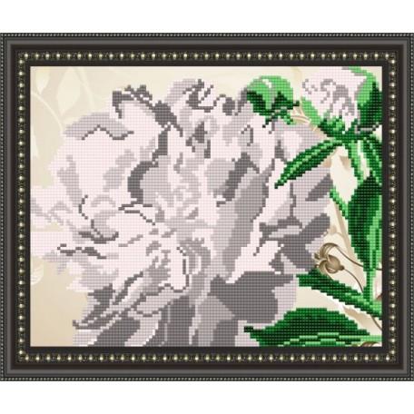Наборы для вышивания бисером Арт Соло арт. NK-4104 'Пион' 20,5х25