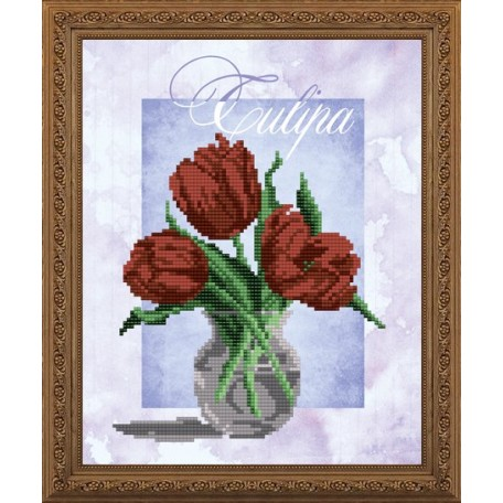 Наборы для вышивания бисером Арт Соло арт. NK-4151 'Тюльпан' 20,5х25
