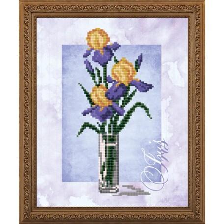 Наборы для вышивания бисером Арт Соло арт. NK-4153 'Ирис' 20,5х25