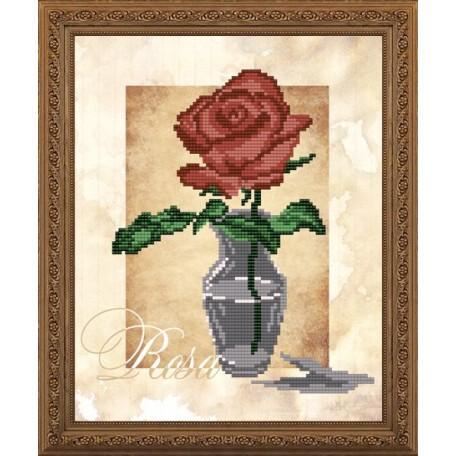 Наборы для вышивания бисером Арт Соло арт. NK-4159 'Роза' 20,5х25