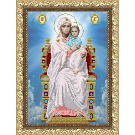 Рисунок на ткани арт. VIA3005 ПБ Пресвятая Богородица на престоле 27х38,5 см
