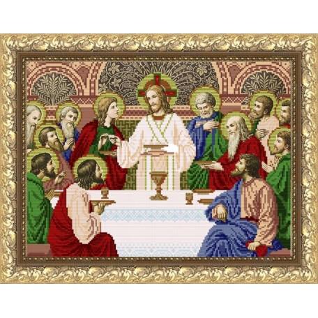 Рисунок на ткани арт. VIA3006 ПБ Тайная вечеря 27х38,5 см