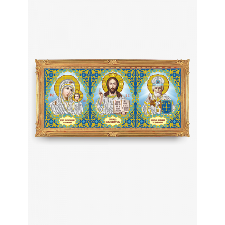 Рисунок на ткани арт. VIA3007 Триптих 54,5х24 см