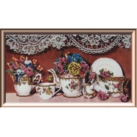 Набор для вышивания бисером 'Астрея Арт' арт.АСТ.50070 Чайный сервиз 2 20х40см