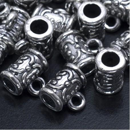 Бейл металл арт. МБ.УТ19168 цв.ант.серебро 7х7,5 мм 20шт.