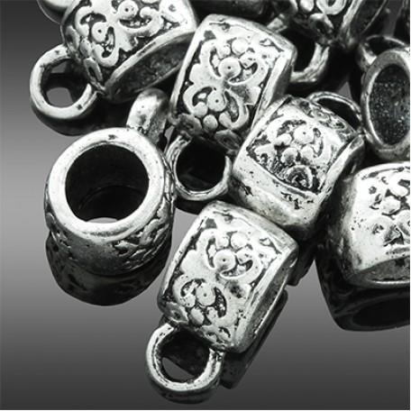 Бейл металл арт. МБ.УТ2309 цв.ант.серебро 11х6 мм 10шт.