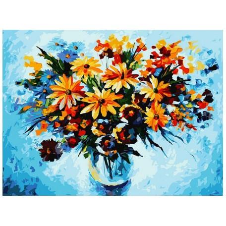 Живопись на картоне Белоснежка арт.БЛ.3012-CS Разноцветные ромашки 30х40 см