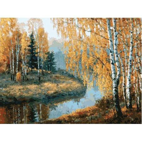 Живопись на картоне Белоснежка арт.БЛ.3045-CS Вот и осень пришла 30х40 см