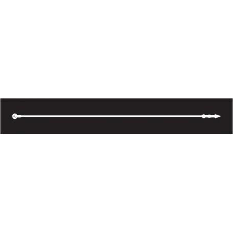Биркодержатели ПЕТЛЯ 125 мм цв.белый (уп.=5000 шт.)