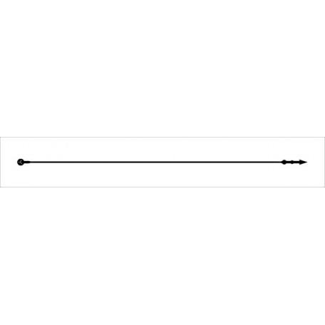 Биркодержатели петля 125 мм цв.черный (уп.=5000 шт.)