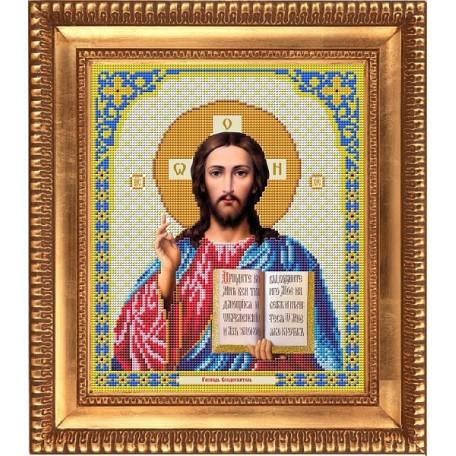 Рисунок на ткани бисером БЛАГОВЕСТ арт.И-4001 Господь Вседержитель 20х25 см