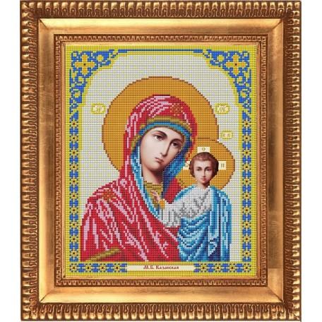 Рисунок на ткани бисером БЛАГОВЕСТ арт.И-4002 Казанская Божия Матерь 20х25 см