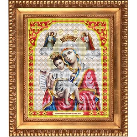 Рисунок на ткани бисером БЛАГОВЕСТ арт.И-4005 Пресвятая Богородица Достойно есть 20х25 см
