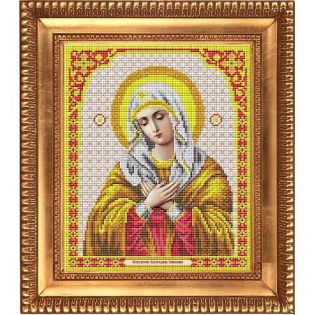Рисунок на ткани бисером БЛАГОВЕСТ арт.И-4006 Пресвятая Богородица Умиление 20х25 см
