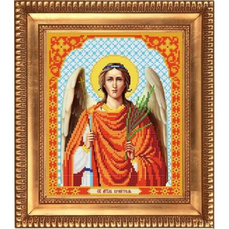 Рисунок на ткани бисером БЛАГОВЕСТ арт.И-4007 Ангел Хранитель 20х25 см