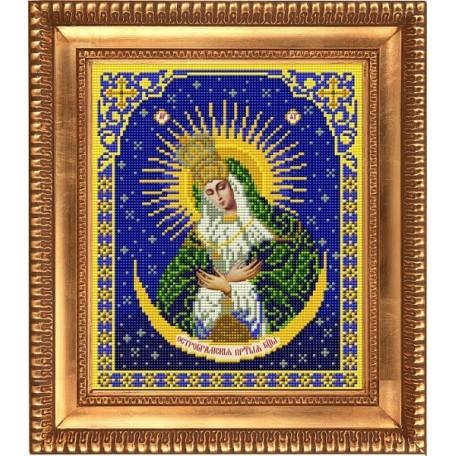Рисунок на ткани бисером БЛАГОВЕСТ арт.И-4008 Пресвятая Богородица Остробрамская 20х25 см